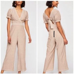 Free People Boundary Striped Jumpsuit Size 2